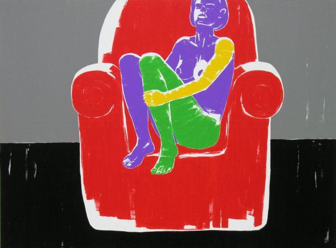 Usnula a neco se ji zda III. platno, akryl, olej, 195x145 cm