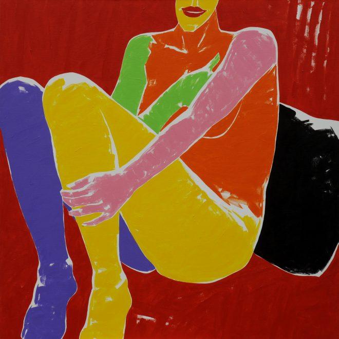 Bez názvu; plátno, akryl; 125x125 cm