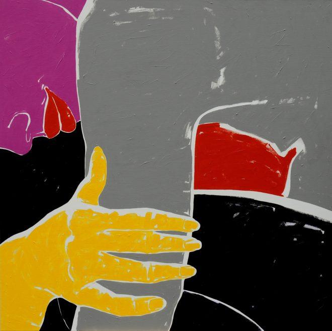 Skrčená; plátno, akryl; 160x160