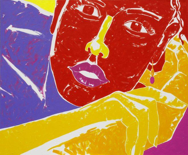 to jsem přece já; plátno, akryl; 165x195