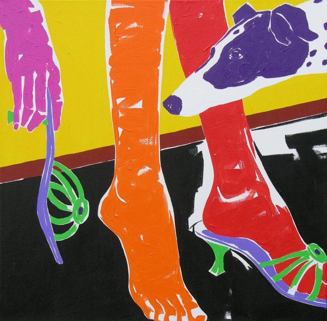 Kamarád; plátno,akryl; 65x65