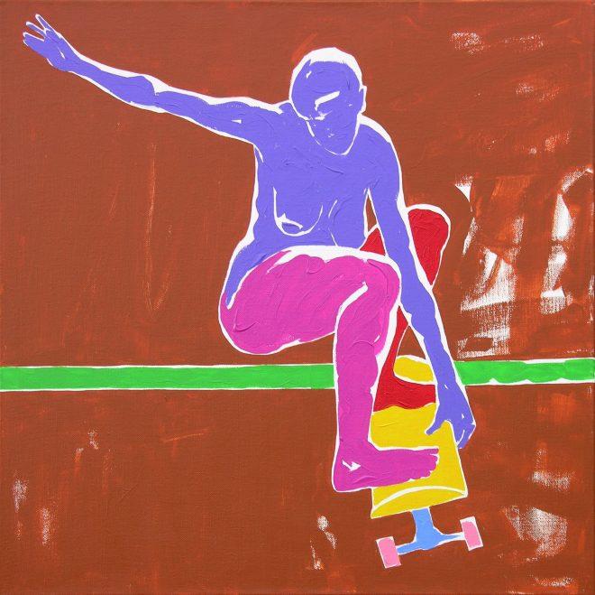 Skate III.; plátno, akryl, 65x65