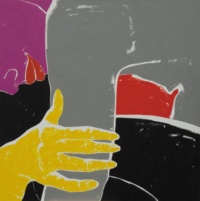 Skrčená; plátno, akryl; 160×160 cm