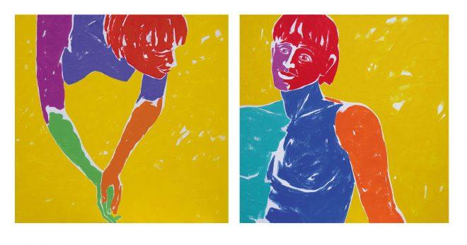 Vzpomínky; plátno, akryl, 80x160 cm